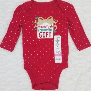 Mommys Favorite Gift Christmas One Piece NWT